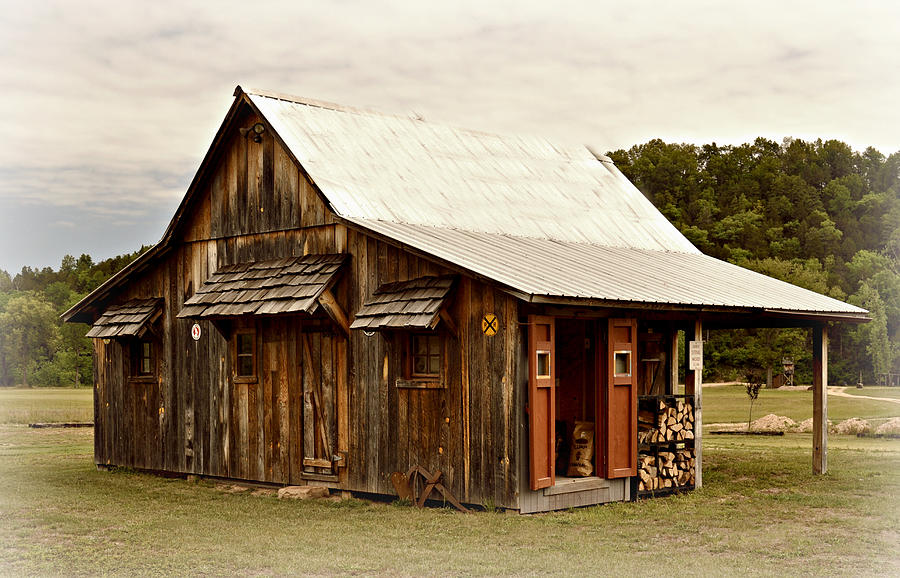 Old Photograph - Bos Shack by Marty Koch