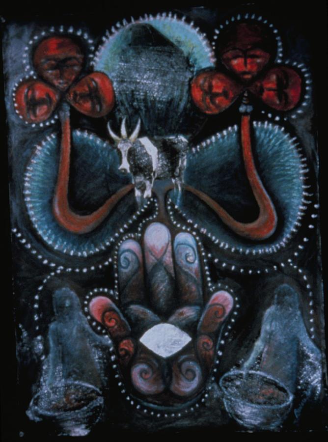 Bosou Twa Kon Mezuzah Painting