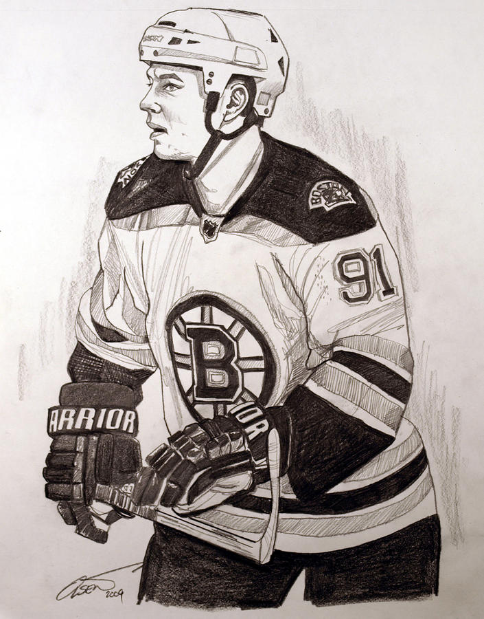 Boston Bruin Star Marc Savard Drawing  - Boston Bruin Star Marc Savard Fine Art Print