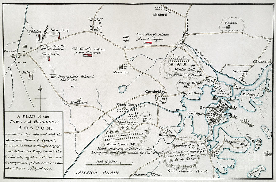 Massachusetts Map 1775 Images