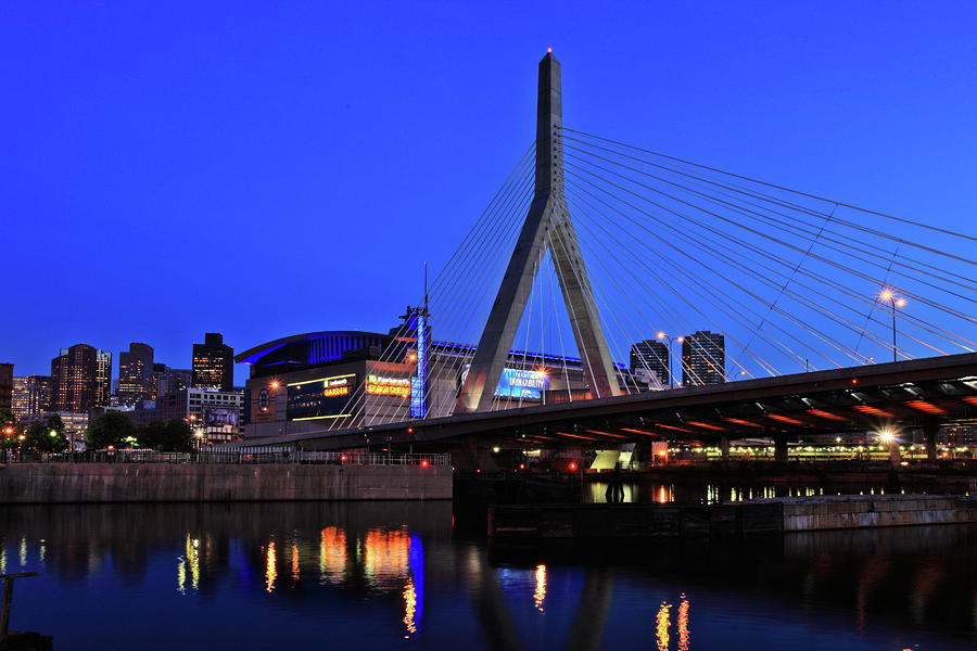 Boston Garden And Zakim Bridge Photograph