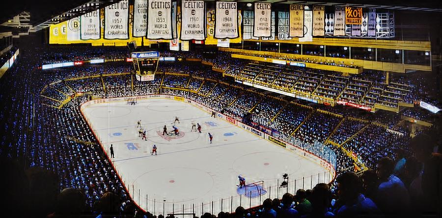 Boston Garden Ice Painting  - Boston Garden Ice Fine Art Print