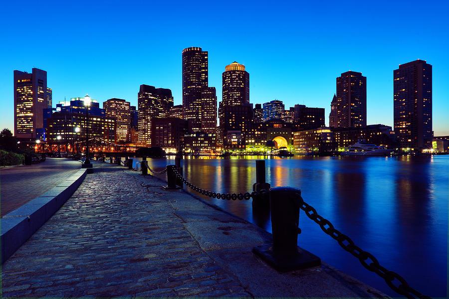 Boston Harbor Walk Photograph