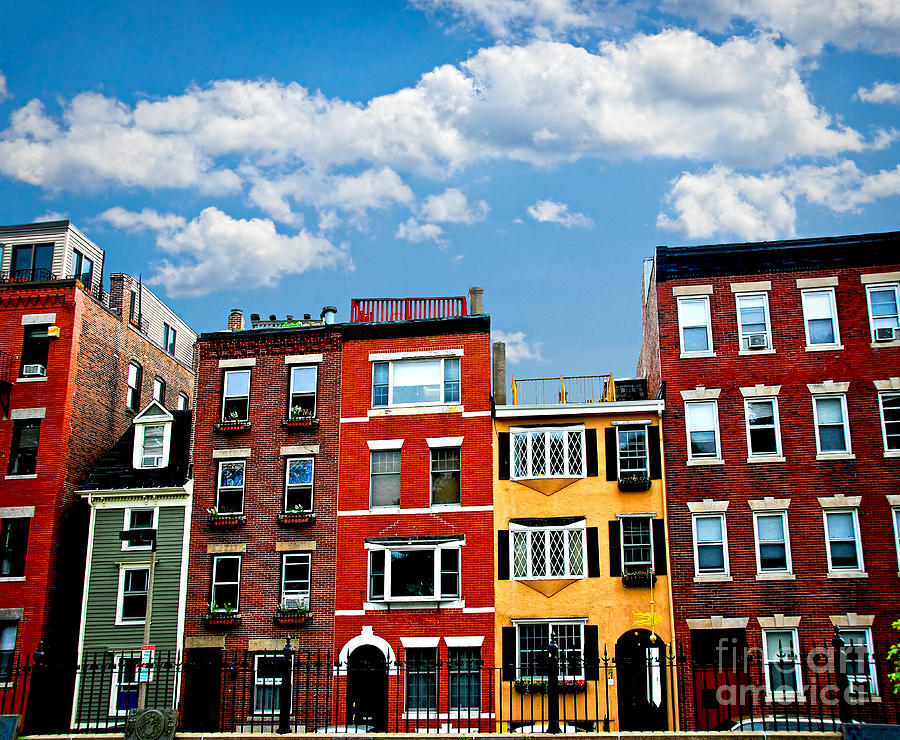 Boston Houses Photograph  - Boston Houses Fine Art Print