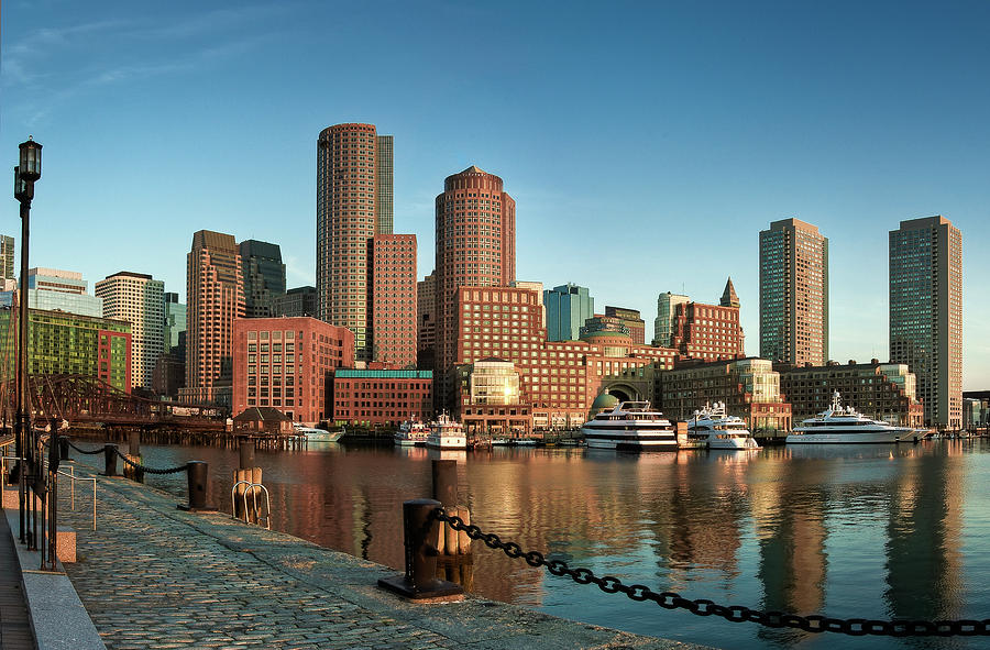 Boston Morning Skyline Photograph