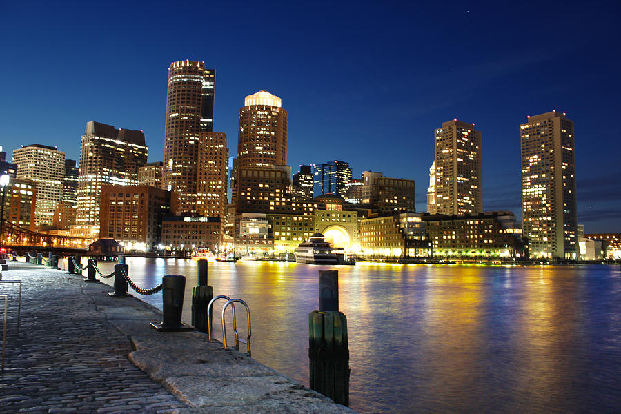 Boston Night Photograph  - Boston Night Fine Art Print