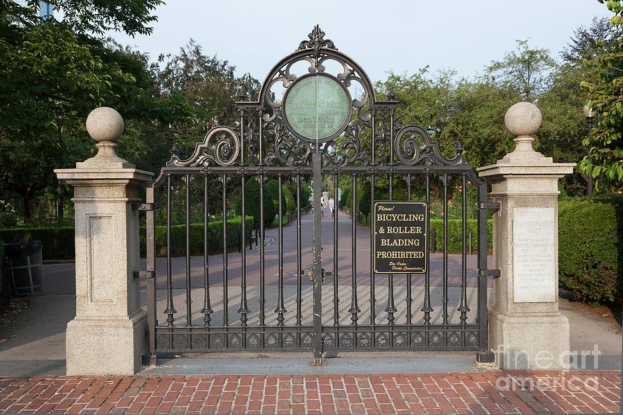 Boston Public Garden Gate And Haffenreffer Walk Photograph