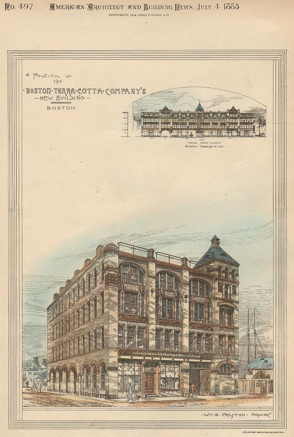 Boston Terra Cotta Building Boston Ma 1883 Painting