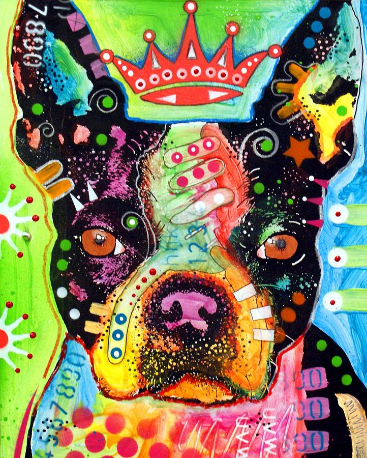 Boston Terrier Crowned Painting
