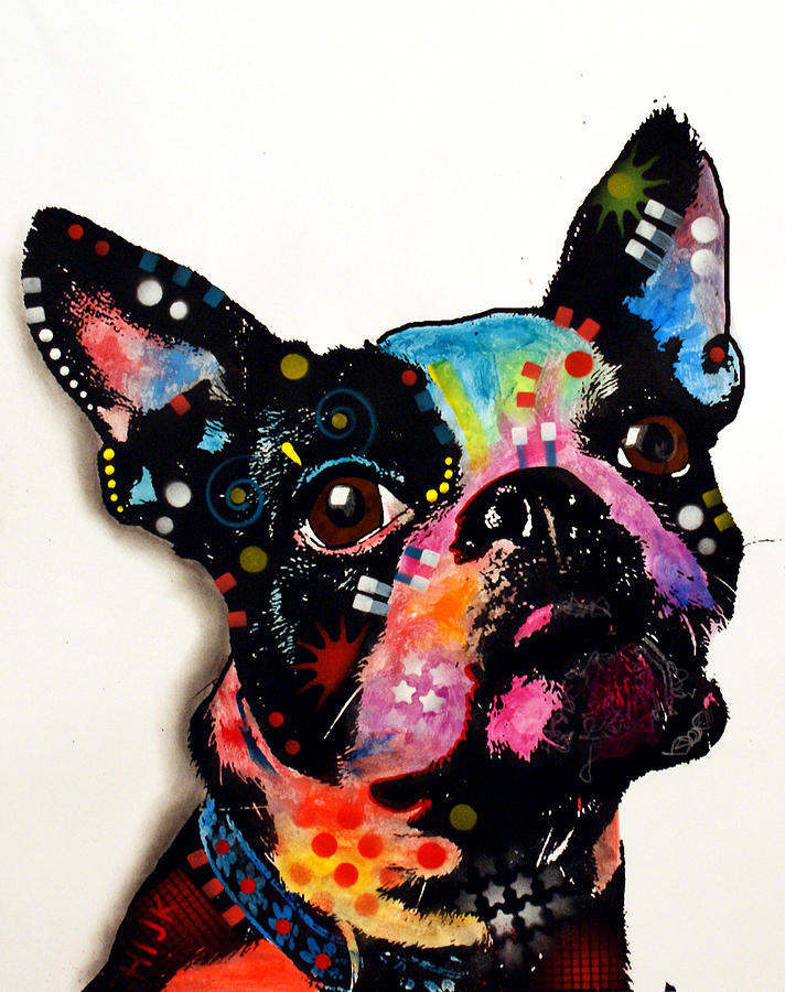 Boston Terrier II Painting  - Boston Terrier II Fine Art Print