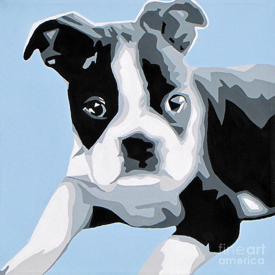 Boston Terrier Painting  - Boston Terrier Fine Art Print