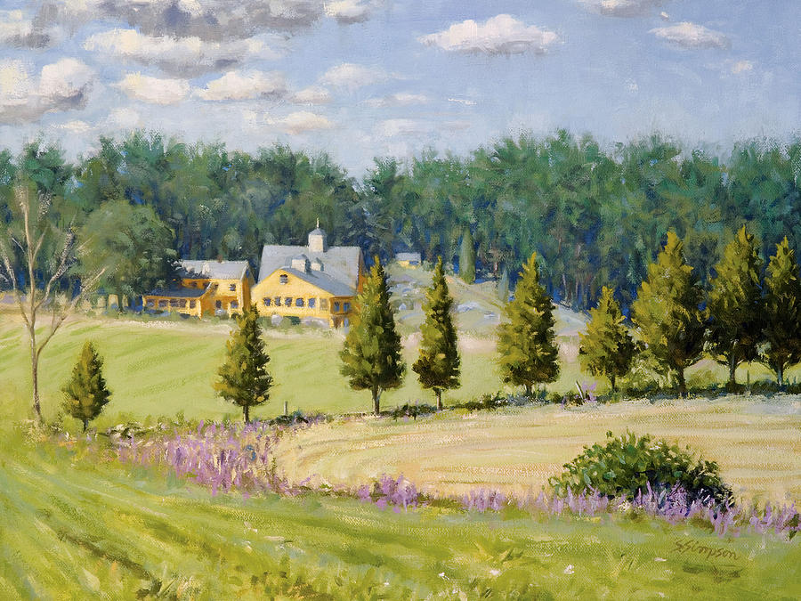 Bothways Farm Painting  - Bothways Farm Fine Art Print