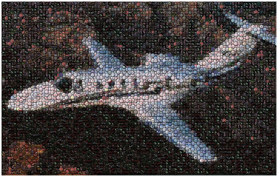 Bottle Cap. Bottle Caps Mixed Media - Bottle Cap Cessna Citation Mosaic by Paul Van Scott