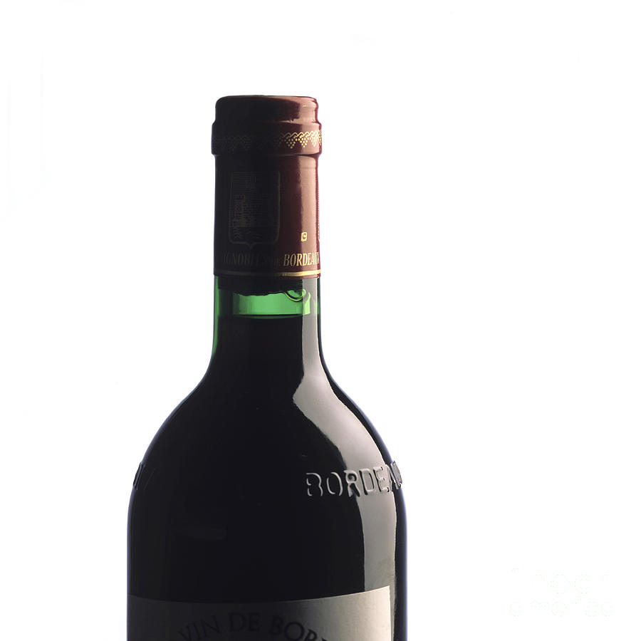 Bottle Of French Wine Photograph