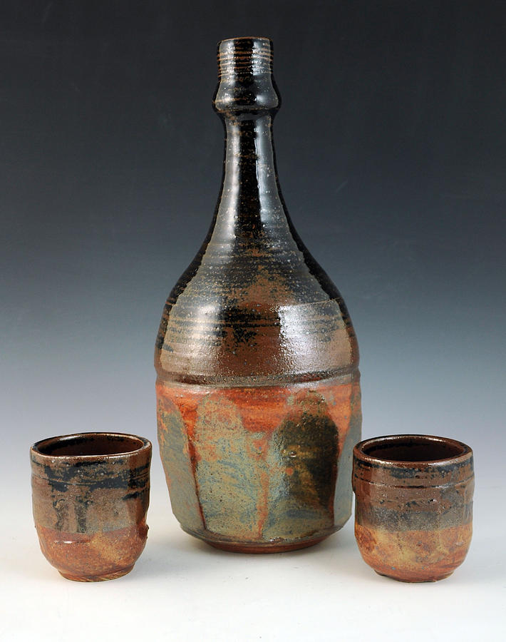 Bottle Set Ceramic Art