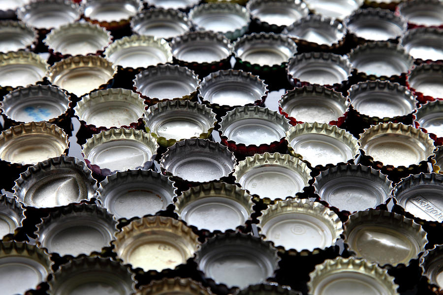 Bottlecaps Photograph  - Bottlecaps Fine Art Print