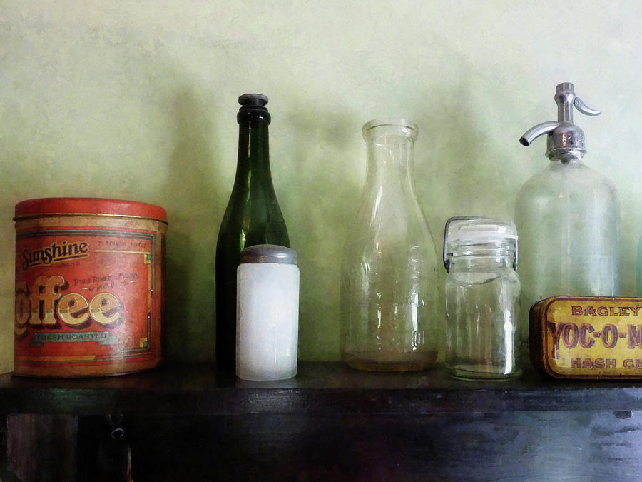Bottles And A Coffee Can Photograph
