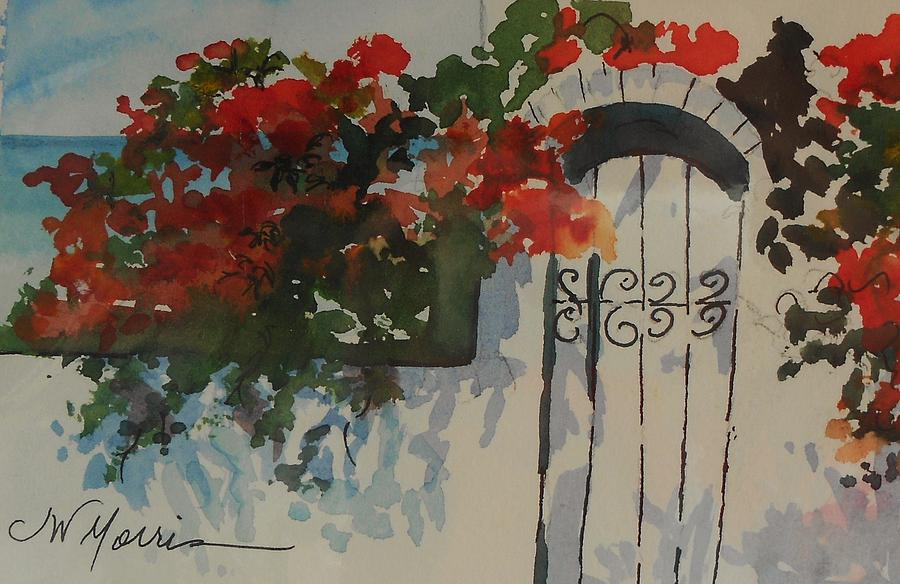 Bougainvillea At My Beach Cottage Painting