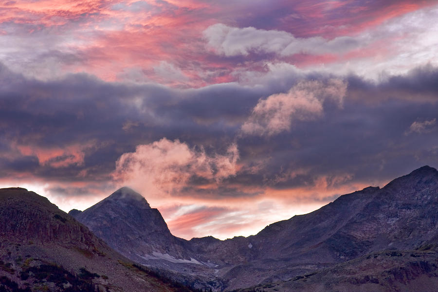 Boulder County Colorado Indian Peaks At Sunset Photograph