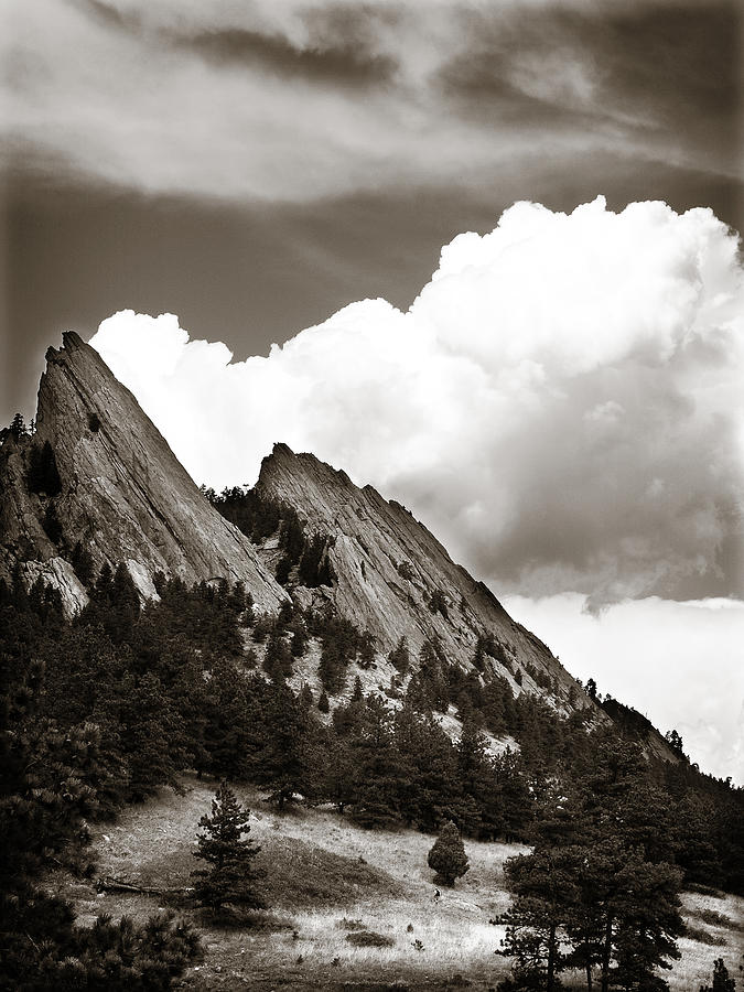 Boulder Flatirons 1 Photograph