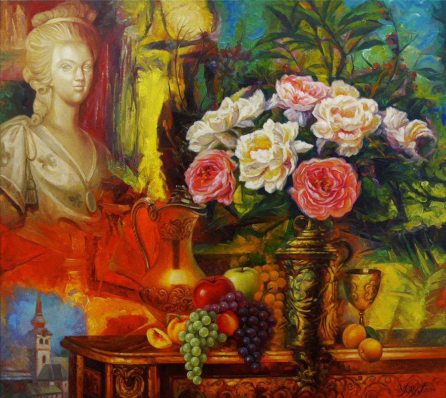 Beauty Painting - Bouquet For The Queen by Yury Fomichev