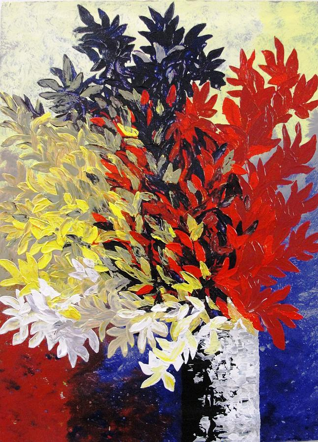 Bouquet Of Petals Painting  - Bouquet Of Petals Fine Art Print