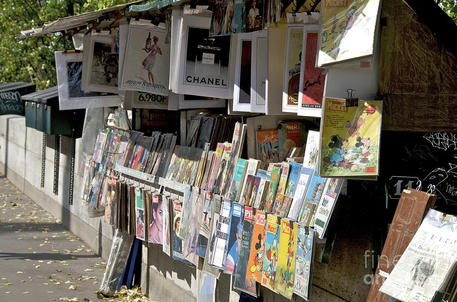 Bouquiniste Book Seller At Quays Of Seine Paris Photograph  - Bouquiniste Book Seller At Quays Of Seine Paris Fine Art Print