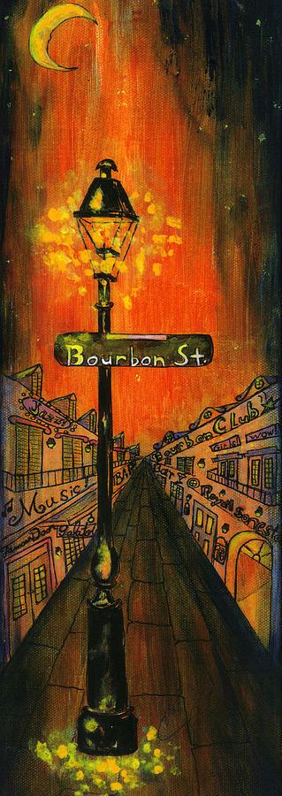 Bourbon Street Lamp Post Painting