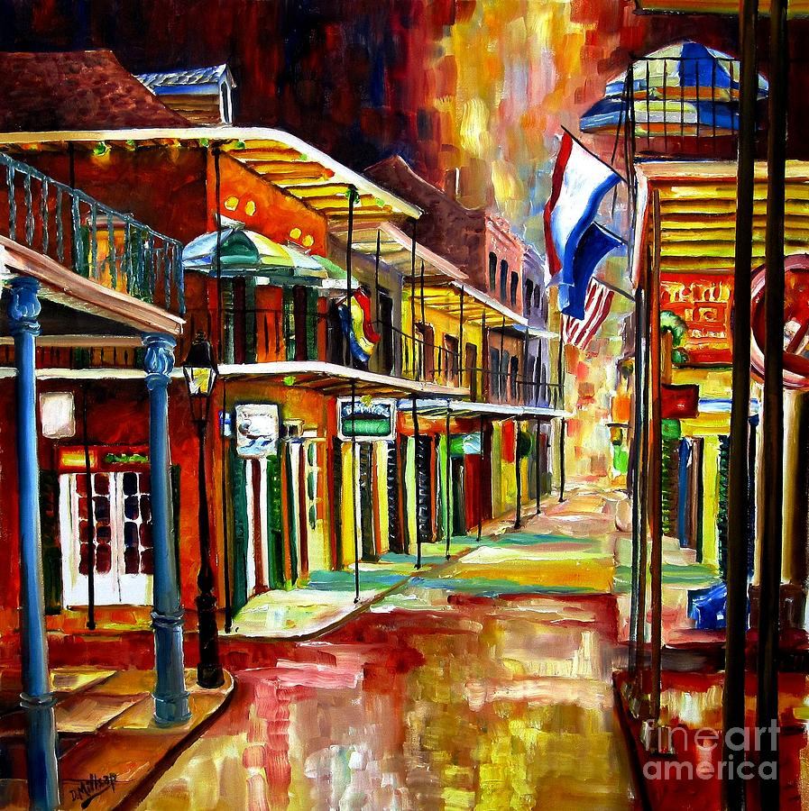 Bourbon Street Lights Painting  - Bourbon Street Lights Fine Art Print