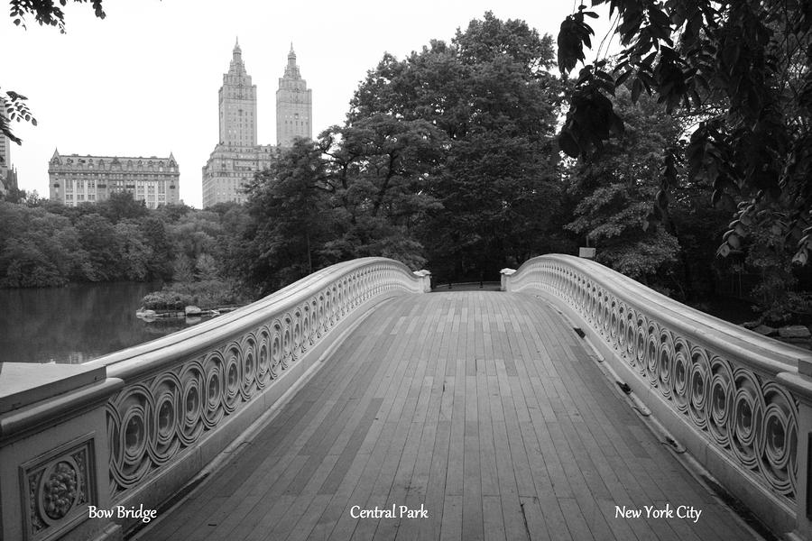 Bow Bridge Central Park Ny Photograph
