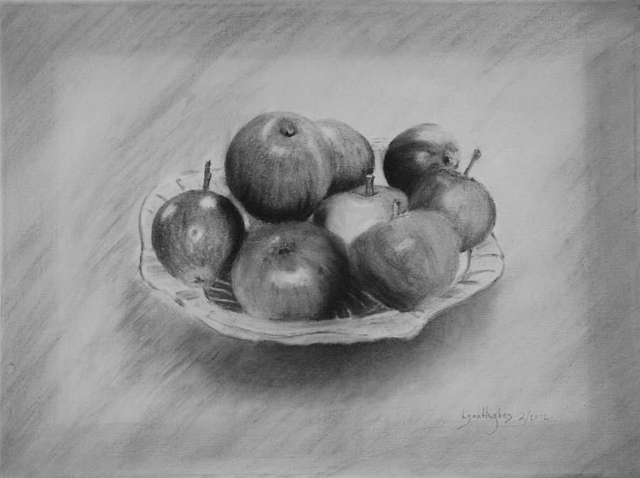 Bowl Of Apples Drawing  - Bowl Of Apples Fine Art Print