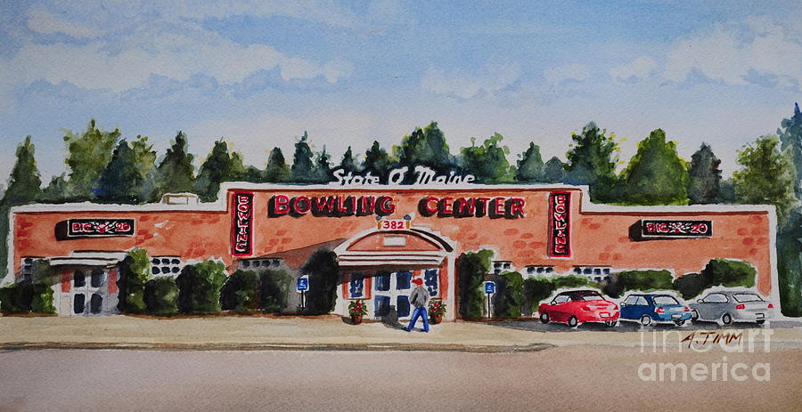 Bowling Center Painting  - Bowling Center Fine Art Print