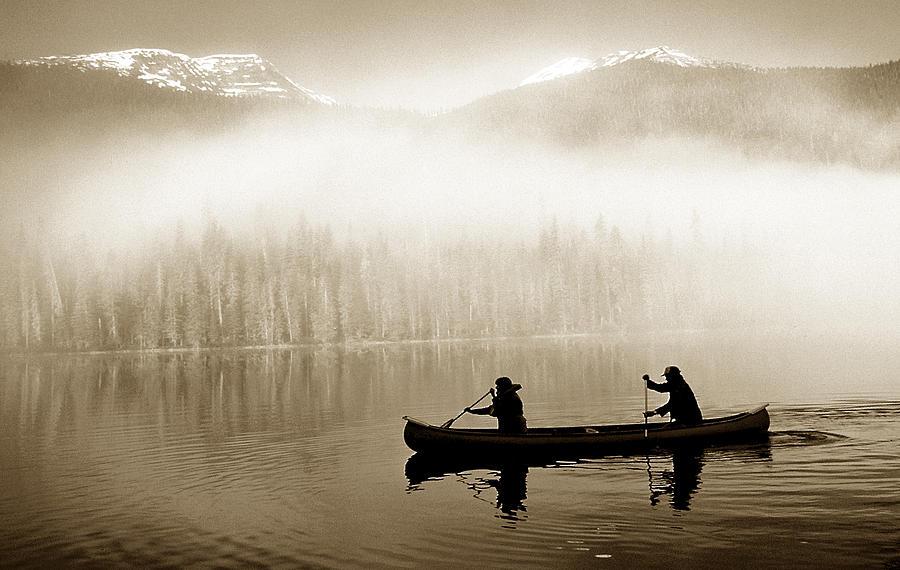 Bowron Lks. Canoe Photograph
