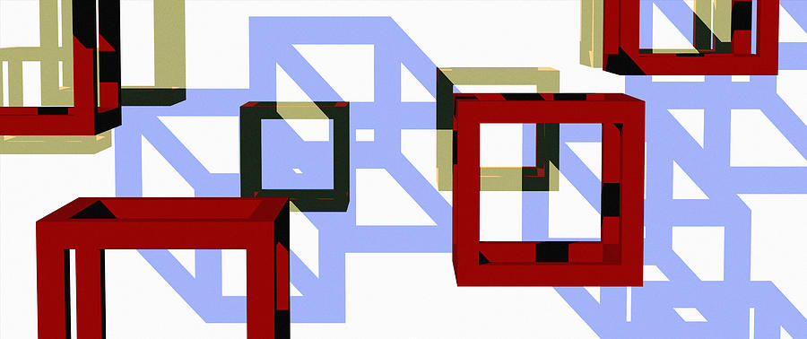 Abstract Digital Art - Boxed In by Richard Rizzo