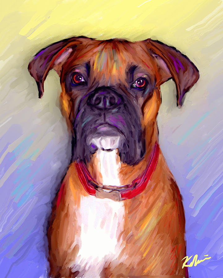 Boxer Beauty Digital Art  - Boxer Beauty Fine Art Print