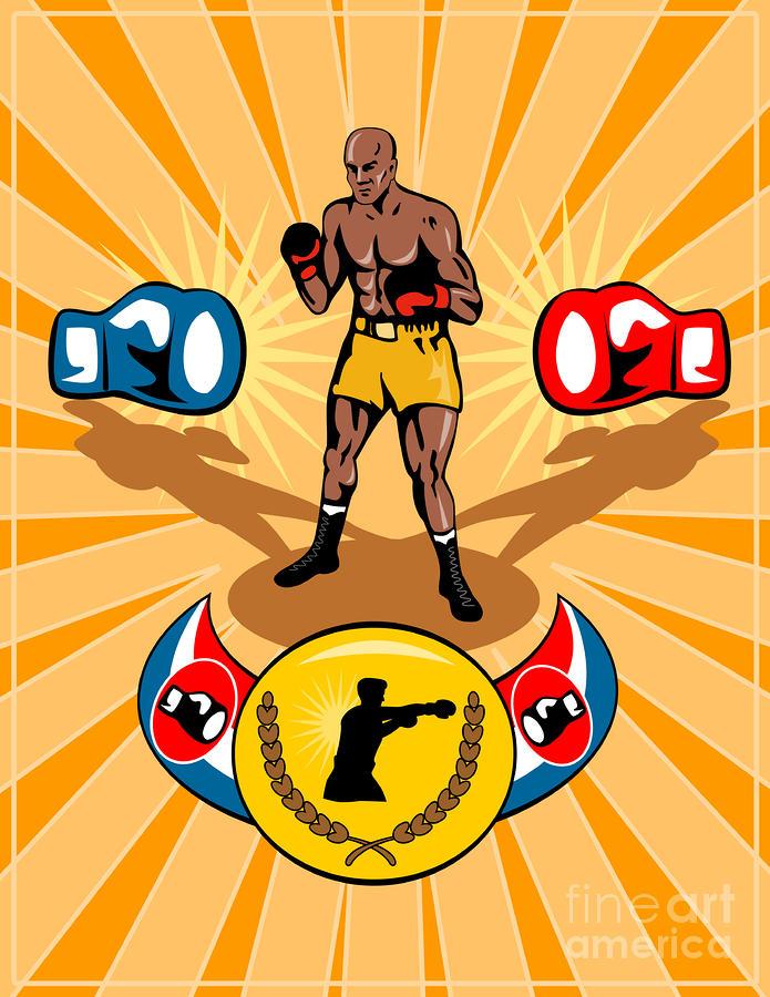 Boxer Boxing Poster Digital Art