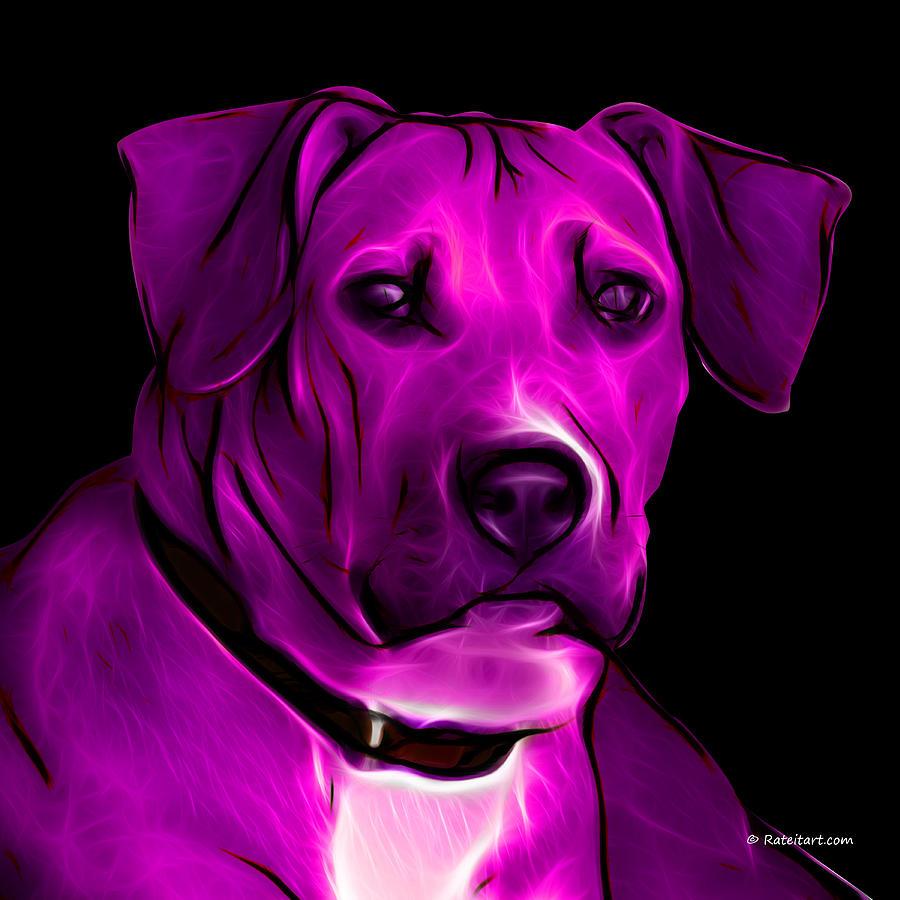Pop Art Digital Art - Boxer Pitbull Mix Pop Art - Magenta by James Ahn