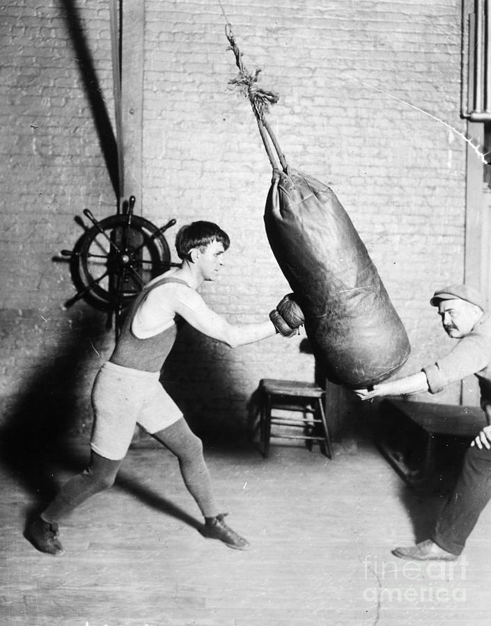 Boxing: Bat Nelson, 1920 Photograph