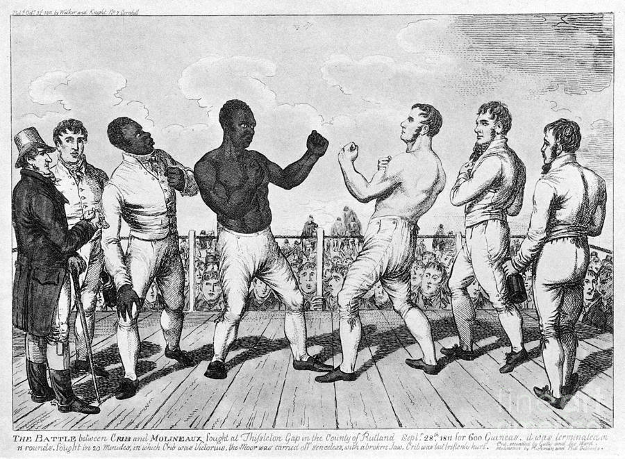 Boxing: Cribb V. Molineaux Photograph  - Boxing: Cribb V. Molineaux Fine Art Print