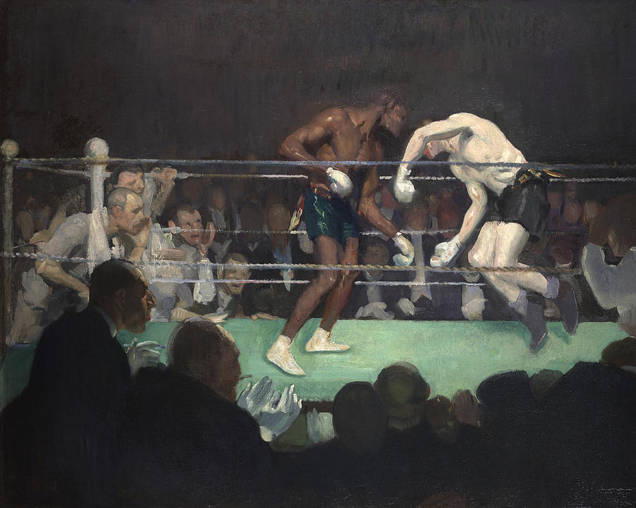 Boxing Match Painting