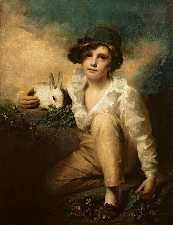 Boy And Rabbit Painting