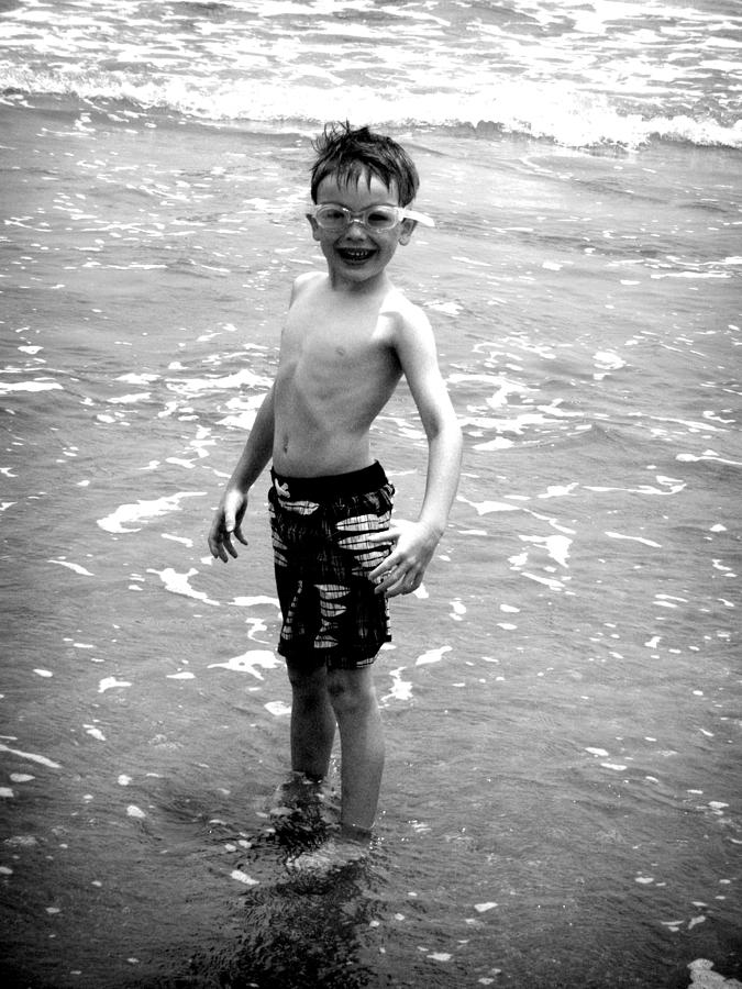 Boy At The Ocean 2 Photograph  - Boy At The Ocean 2 Fine Art Print