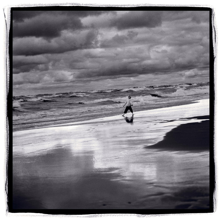 Boy On Shoreline Photograph  - Boy On Shoreline Fine Art Print