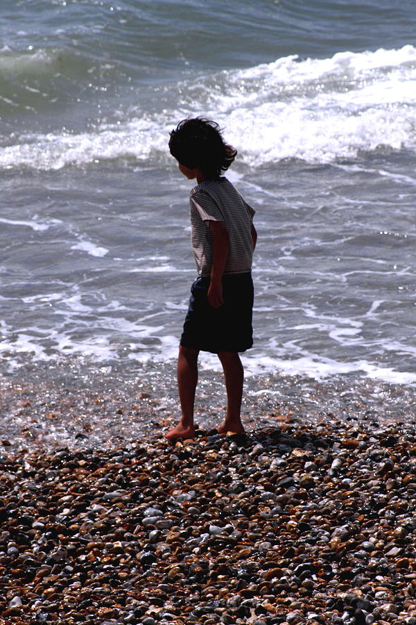 Boy On The Beach Photograph