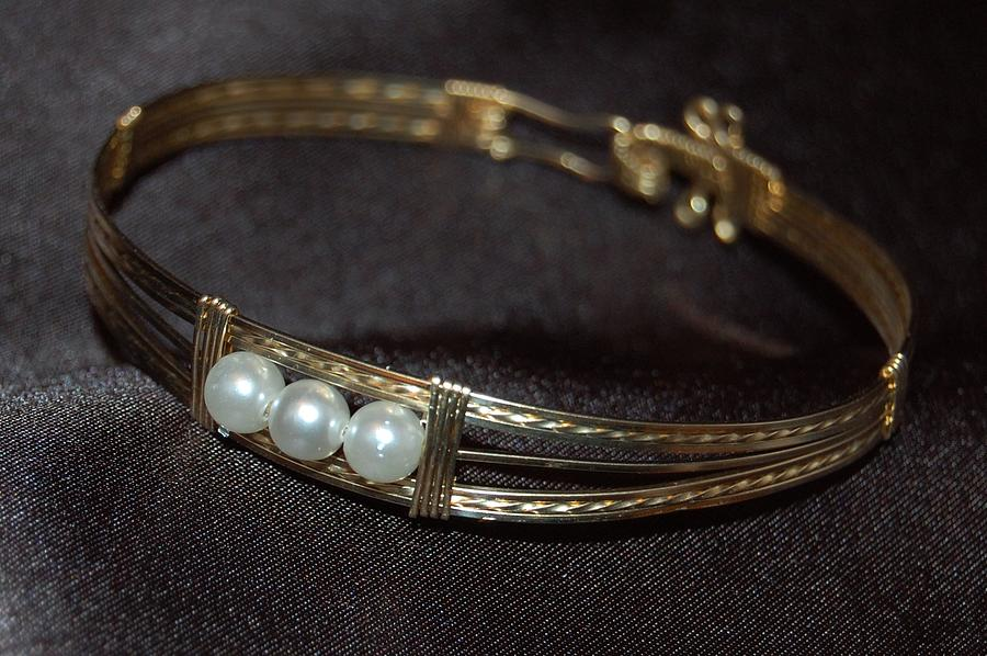 Bracelet With 3 Pearls Jewelry  - Bracelet With 3 Pearls Fine Art Print