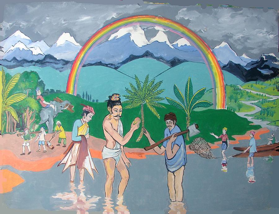 Brahmadatta Finds Mango Painting
