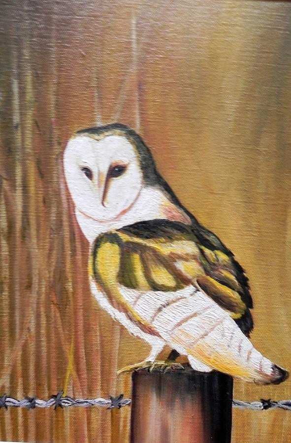 Birds Painting - Bran Owl by Usha Rai