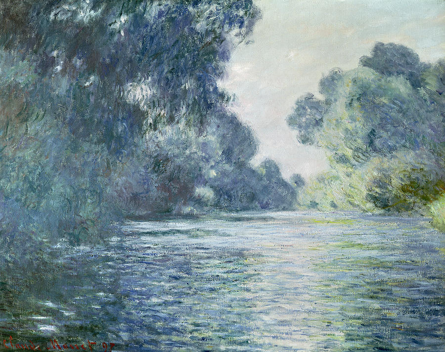 Branch Of The Seine Near Giverny Painting  - Branch Of The Seine Near Giverny Fine Art Print