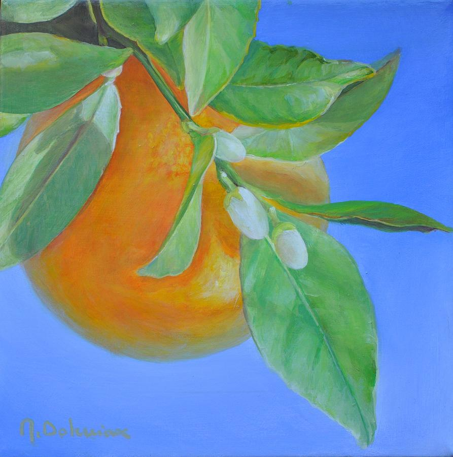 Acrylic Painting - Branche En Boutons by Muriel Dolemieux