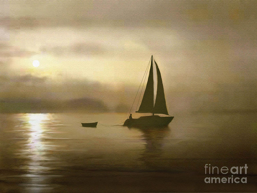 Brass Sail Painting  - Brass Sail Fine Art Print